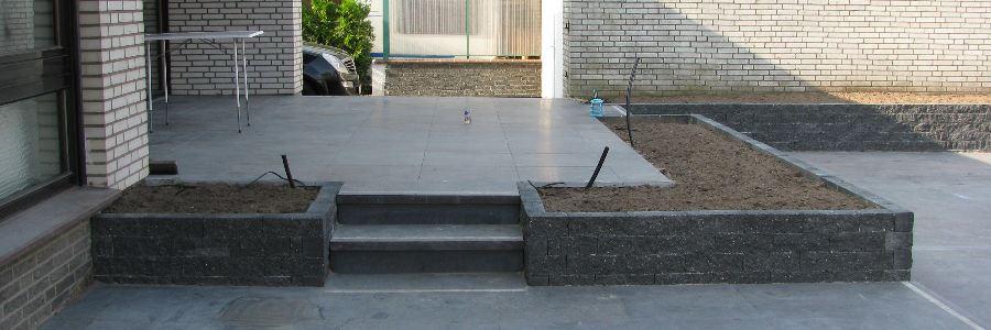 beton bestrating tuin